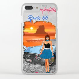 Rockabilly Street Art Clear iPhone Case