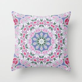 Country Lace Style Kaleidoscope Pattern Throw Pillow