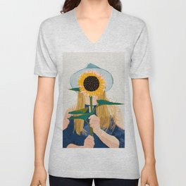Miss Sunflower || Unisex V-Neck