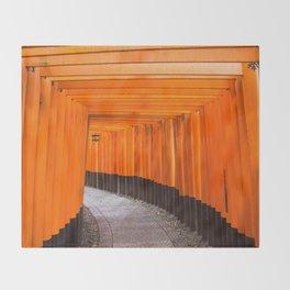 Fushimi Inari Walkway Throw Blanket