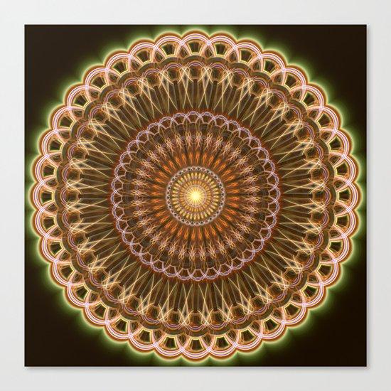 Patterns mandala in earth tones Canvas Print