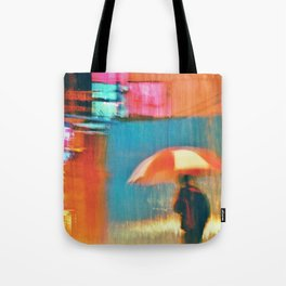Human Expressionism No.1Alone in the rain Tote Bag