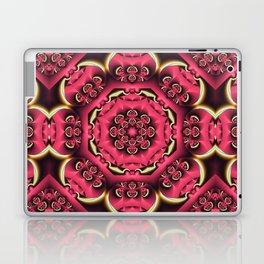 Fantasy flower kaleidoscope with optical effects Laptop & iPad Skin