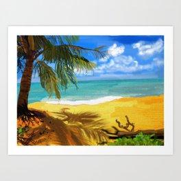 Bristle Beach Art Print