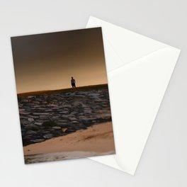 Tilt Shift Seaside Tree, Beach, Rocks, Man Stationery Cards