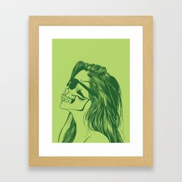 Skull Girl 2 Framed Art Print