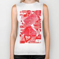 letters Biker Tanks featuring love letters by sladja