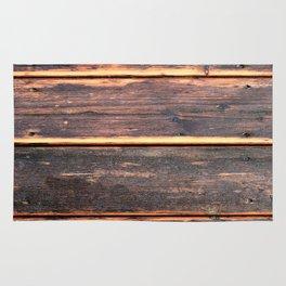 Worn Rustic Wood Boards, Textured Wood Grain Rug