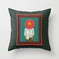 the perks of being a wallflower Throw Pillows featuring Wallflower by Lindsay Beach