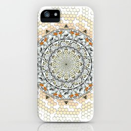Overlapping Bee Mandala (Color) iPhone Case