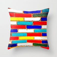 Vibrant Brick Throw Pillow