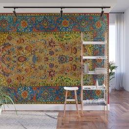 Hereke Vintage Persian Silk Rug Print Wall Mural