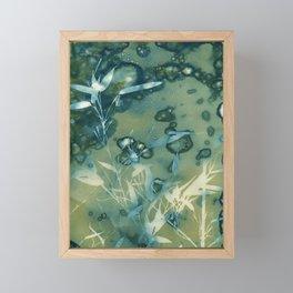 Bamboo Bubbles Cyanotype Framed Mini Art Print
