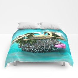 DINOSAUR SKULL ABSTRACT Comforters