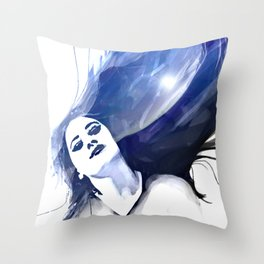 hairy mountain Throw Pillow