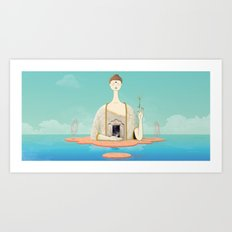 Dream state place Art Print