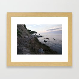 Jasmund Bay - Sunset - Isle Ruegen Framed Art Print