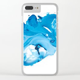 Original Marble Texture - Sapphire Clear iPhone Case
