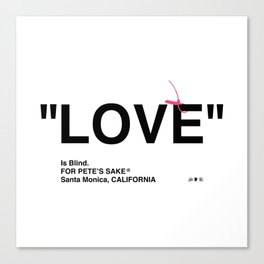 """LOVE"" Canvas Print"