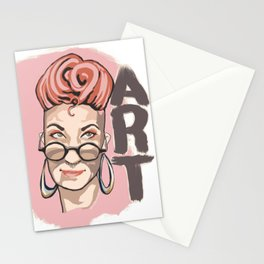 its always about art  Stationery Cards