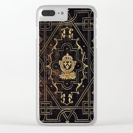 Leather and Gold Clear iPhone Case