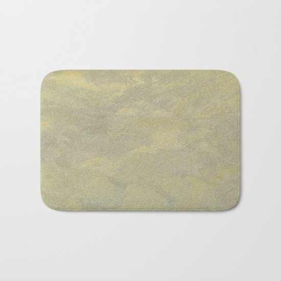Modern Masters Metallic Plaster - Aged Gold and Silver Fox - Custom Glam Bath Mat