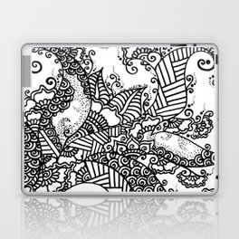 Zen Tree Rebirth White Right Half Laptop & iPad Skin