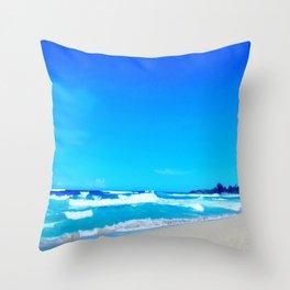 Carribean Coast Throw Pillow