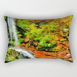 Softly Falling Rectangular Pillow