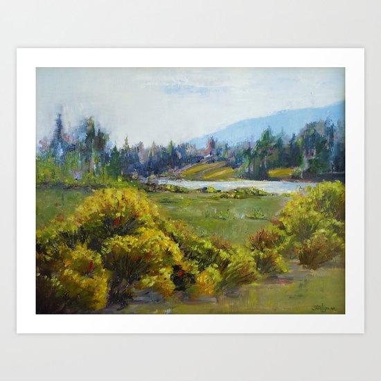 Smooth Waters Art Print