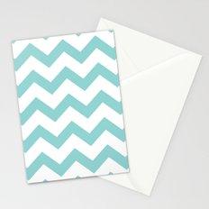Chevron Blue Stationery Cards