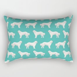 Great Pyrenees dog portrait pet gifts for dog person with unique dog breeds by pet friendly Rectangular Pillow