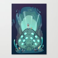 nausicaa Canvas Prints featuring Nausicaa of the Valley of the Wind by Zaley