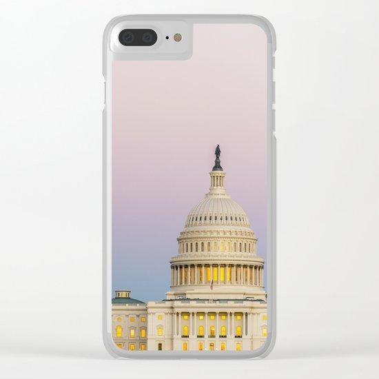 Sunrise Moon Clear iPhone Case