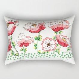 polka dot poppies Rectangular Pillow