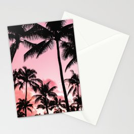 Tropical Trees Silhouette Stationery Cards