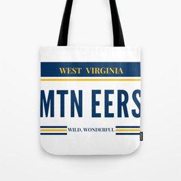 West Virginia License Plate Tote Bag
