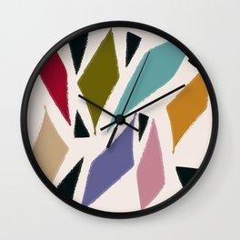 Righe e Triangoli Wall Clock