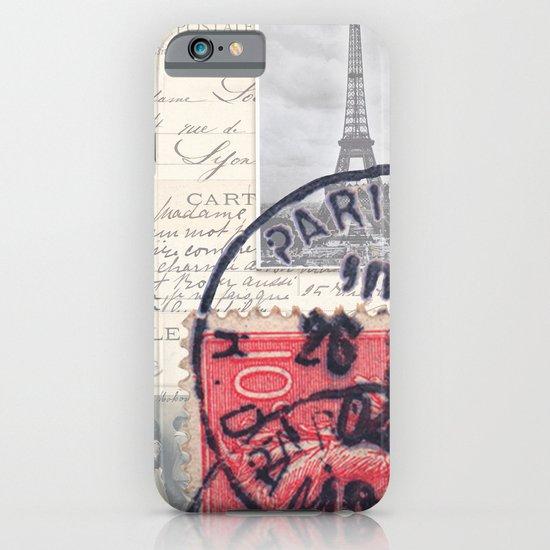 Postale Paris iPhone & iPod Case