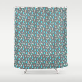 Blue Cowgirl Boots For The Modern Cowgirl Shower Curtain