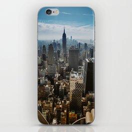 NYC skyline views iPhone Skin