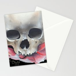 Lotus Flower and Skull Stationery Cards