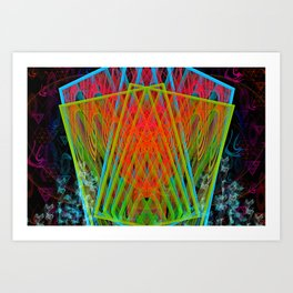 A Psychedelic Hand of Cards Art Print