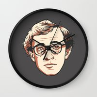 woody Wall Clocks featuring Woody by Aaron Scamihorn