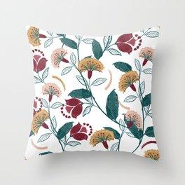 Bohemian Retro Garden Throw Pillow