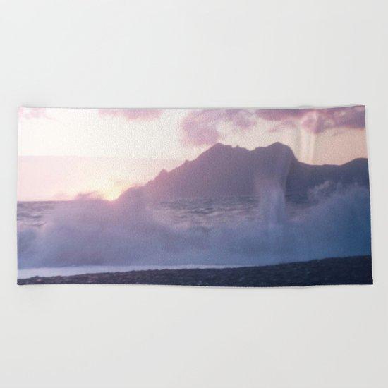 Crash into me - Romantic Sunset @ Beach #2 #art #society6 Beach Towel