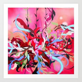 Red Arrangement Art Print