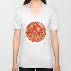 Map of the Town Unisex V-Neck