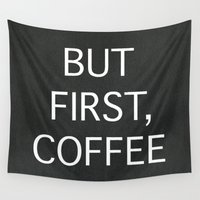 coffee Wall Tapestries featuring Coffee by eARTh