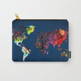 World Map 6 Carry-All Pouch